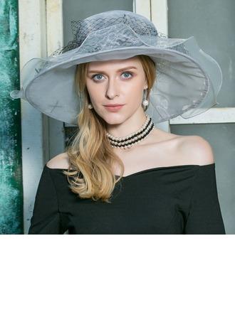 Sonar Naisten Tyylikäs Organzanauha Levyke hattu/Kentucky Derbyn hatut