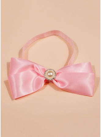 Polyester/Elastic With Imitation Pearls Headbands