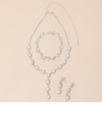 Liga/Strass/Falso pérola Senhoras Conjuntos de jóias