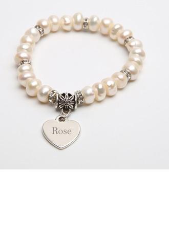 gepersonaliseerde Fijne ketting Bruidsmeisje armbanden Eerste armbanden met Hart - Kerstcadeaus Voor Haar