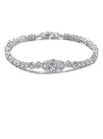 Ladies' Elegant Alloy/Zircon Bracelets For Bride/For Bridesmaid