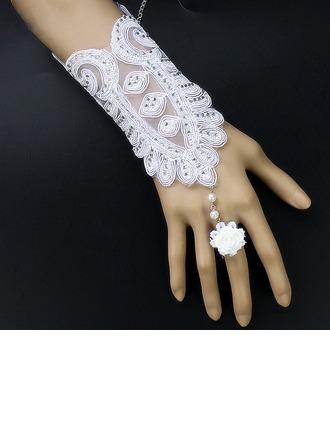 Blonder Wrist Længde Brude Handsker
