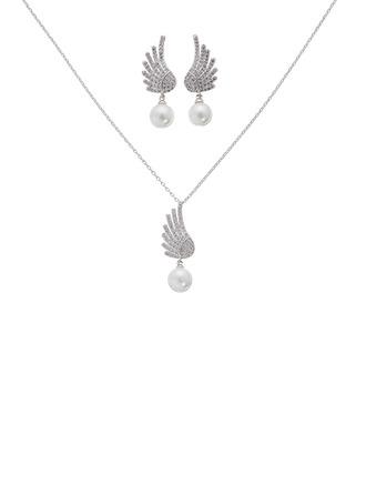 Elegant Alloy/Zircon/Imitation Pearls Ladies' Jewelry Sets