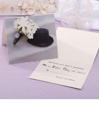 Personalized Classic Style Top Fold Response Cards (Set of 20)