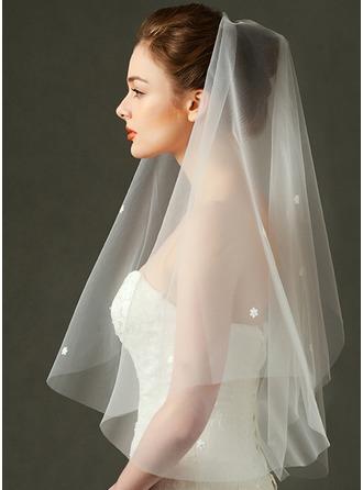 Uno strato Velare da sposa gomito con Bordo tagliato
