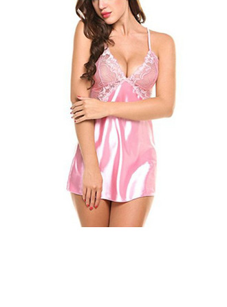 Simple And Elegant Imitated Silk Sleepwear/Bridal Lingerie/Slips