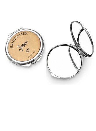 Bridesmaid Gifts - Personalized Attractive Special Eye-catching Stainless Steel Compact Mirror