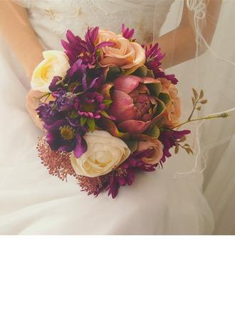 Simples e elegante Forma livre Suculentas simulação Buquês de noiva -