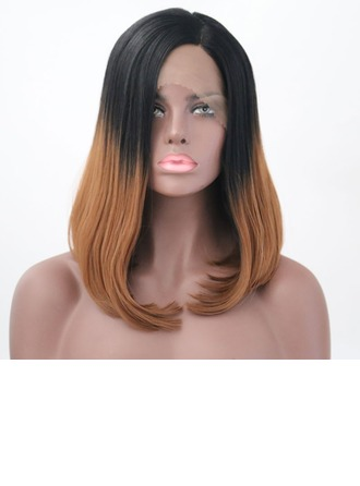 Straight Synthetic Hair Lace Front Wigs 220g