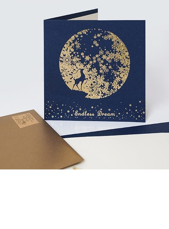 Modern Style/Flora Stil Yan Fold Doğum günü Kartları/Teşekkür Kartpostalları/Tebrik kartı