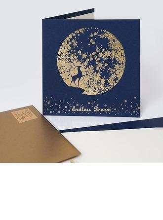 Modern Style/Blumen-Stil Side Fold Geburtstagskarten/Dankeskarten/Grußkarten
