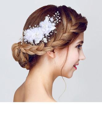 Çekicilik Kristal/Faux Pearl/Suni İpek Çiçekler ve tüyler