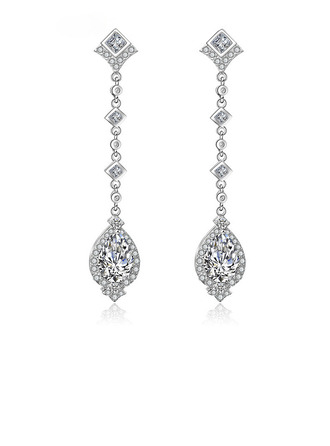 Ladies' Exquisite Copper/Cubic Zirconia Cubic Zirconia Earrings For Bride