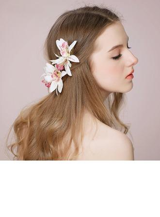 Hyvät Tyylikäs Silkki kukka Barrettes