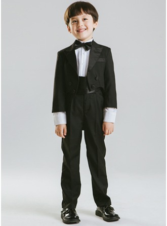Boys 5 Pieces Formal Ring Bearer Suits /Page Boy Suits With Jacket Shirt Pants Bow Tie Cummerbund