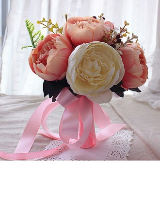 Käsin Sidottu Silkki kukka Morsiamen kukkakimppuihin/Morsiusneito Kukkakimppuihin (myydään yhtenä kappaleena) -