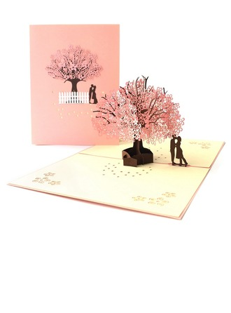 Artistic Style Side Fold Invitation Cards (Set of 10)