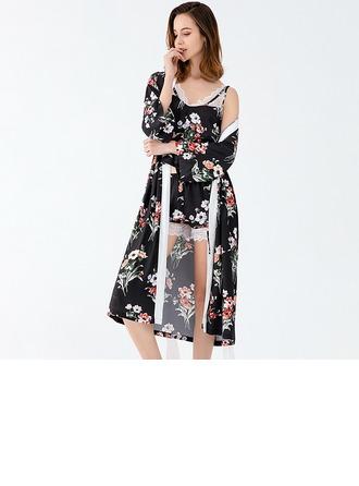 Polyester Çekicilik Gelin/Kadınsı Sleepwear Setleri