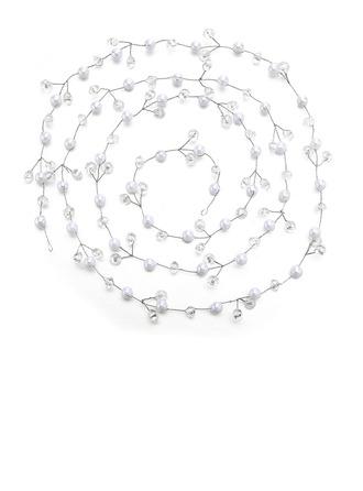 Damska Specjalny Kryształ/Faux Pearl Opaski Z Weneckie Perły/Kryształ (Sprzedawane w jednym kawałku)