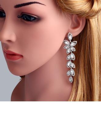 Lysande Legering med Strass Kvinnor Mode örhängen
