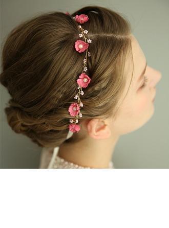 Damska Przepiękny Faux Pearl/Kwiat jedwabiu Opaski Z Weneckie Perły (Sprzedawane w jednym kawałku)