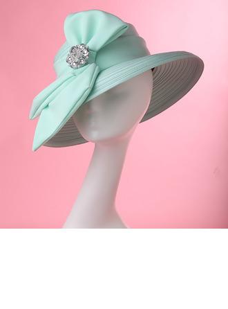 Signore Affascinante/Elegante/Fatto a mano/Alta qualità Poliestere con Strass Kentucky Derby Hats/Cappelli da Tea Party