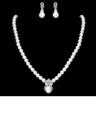 Elegante Perla con Strass Signore I monili