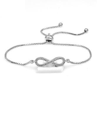 Beautiful Alloy/Zircon Ladies' Bracelets