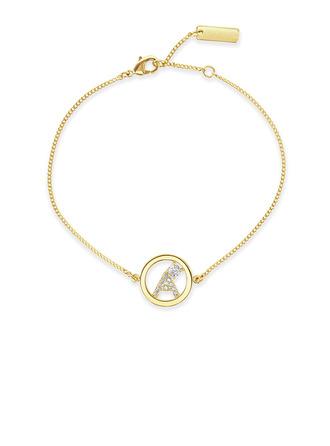 Невеста Подарки - Персонализированные увлекательные нежный стерлингового серебра Цирконий Браслет