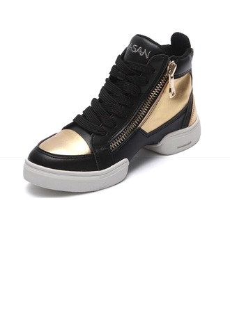 Men's Leatherette Sneakers Practice Dance Shoes