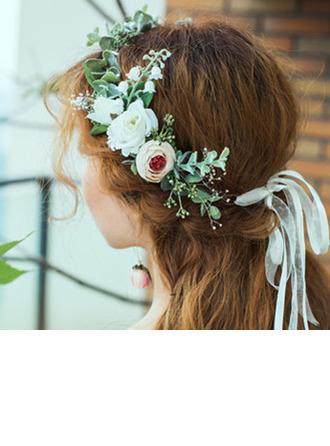Klassiek Ronde Kunstbloem hoofddeksel Flower (verkocht als één geheel) - hoofddeksel Flower