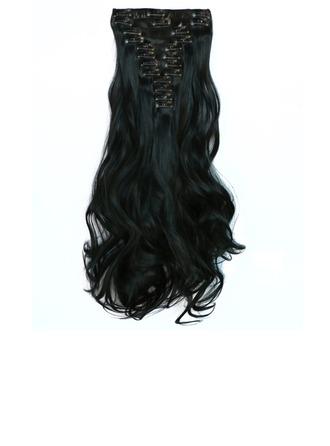 Suelto Pelo sintético Extensiones de cabello con clip 12PCS 150g