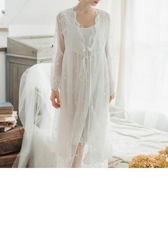 Katoen Bruids/Vrouwelijk nachtkleding Sets