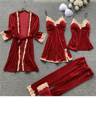 Morsius/Naisellinen Tyylikäs Sametti Sleepwear setit