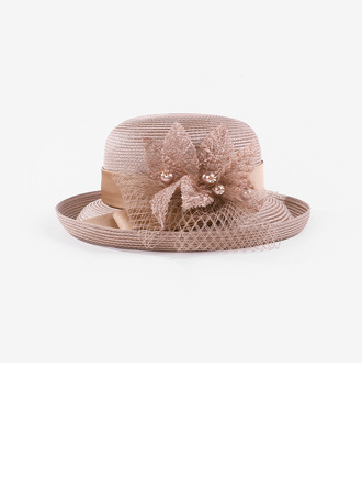 Signore Bella/Fascino Poliestere con Fiore di seta/Di faux perla Kentucky Derby Hats/Cappelli da Tea Party