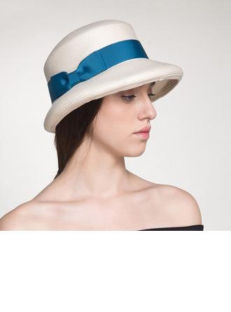 Señoras' Hermoso/Estilo clásico/Elegante Rafia paja Sombrero de fieltro