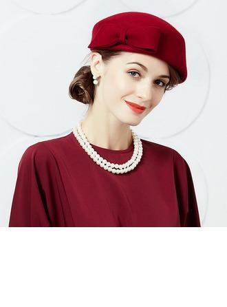 Damene ' Enkel/Pen/Høy Kvalitet Ull med Bowknot Baqueira Hatt