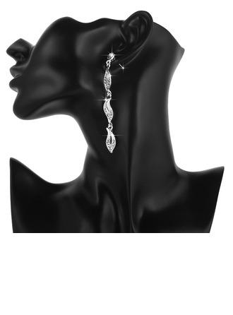 Kaunis Metalliseos jossa Tekojalokivi Sonar Naisten Korvakoruja