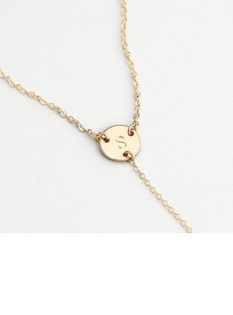 Personaliseret Ladies ' Hotteste 925 Sterling Sølv Initialer Halskæder brud/Brudepige/Blomst pige