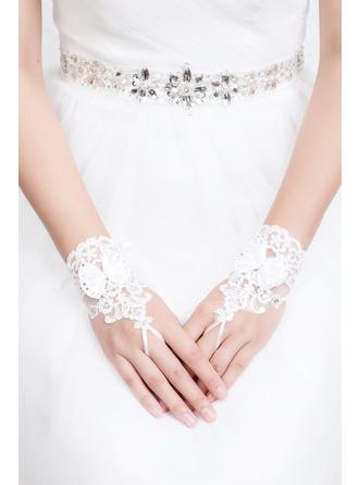 Lace Wrist Længde Brude Handsker