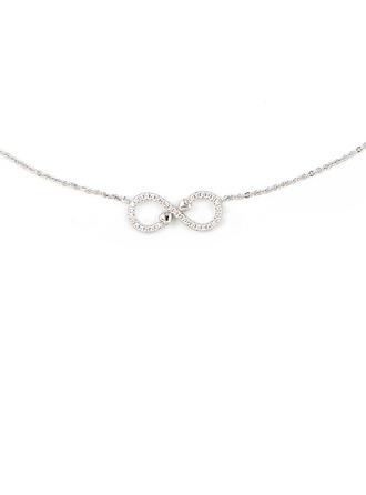 Silber Zirkonia Unendlichkeit Anhänger Halskette Für Mutter / Mutter Für die Freundin
