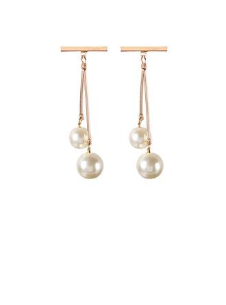 Hermoso Aleación La perla de faux con Perlas de imitación De mujer Pendientes de la manera