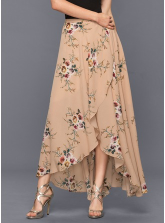 A-Line/Princess Asymmetrical Chiffon Cocktail Dress