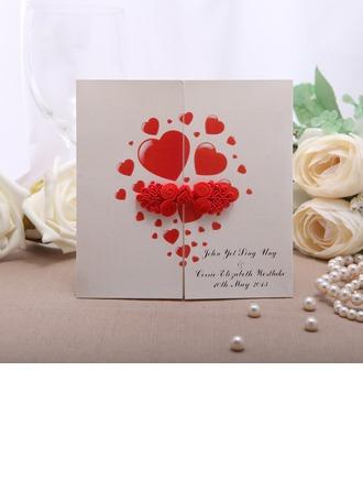Personalizado Estilo para el Corazón Puerta-Doble Invitation Cards