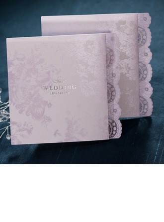 Personalized Classic Style/Modern Style Side Fold Invitation Cards (Set of 50)