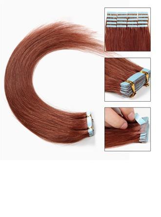 4A Tout droit les cheveux humains Ruban dans les extensions de cheveux 20PCS