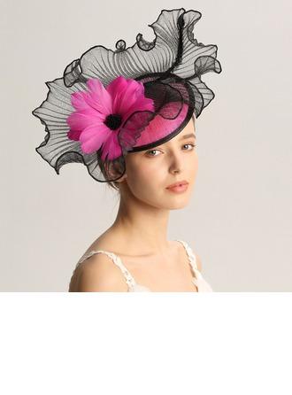 Damen Mode/Besondere/Glamourös/Elegant/Einzigartig/Fantasie/Romantisch/Jahrgang/Künstlerische Batist/Feder Kopfschmuck/Kentucky Derby Hüte