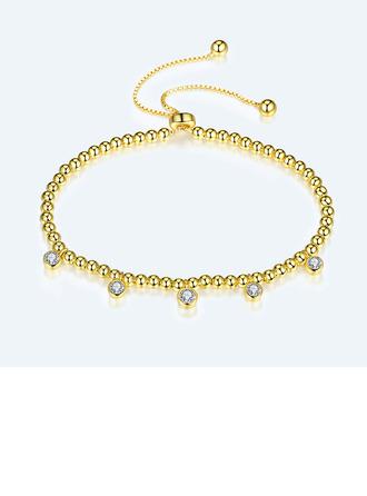 Beaded Stone Charmarmbånd Bolo armbånd med Terningformet Zirkon -