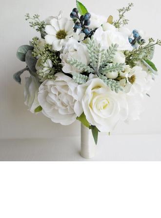 Femenino Forma libre Flores de seda Ramos de novia (vendido en una sola pieza) -