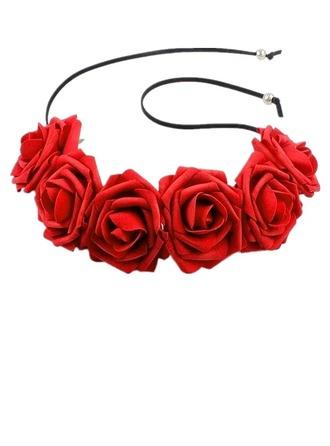 Bayan Güzel Ipek Çiçek Headbands (Tek parça Satılan)